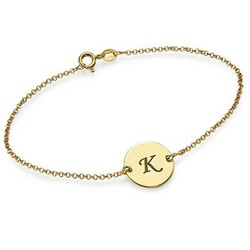 Gold Plated Initial Bracelet product photo