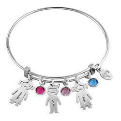 Bangle Bracelet with Kids Charms product photo