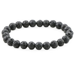 Lava Stone Men?s Beaded Bracelet product photo