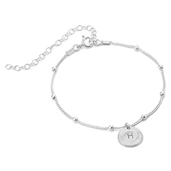 Mini Rayos Initial Bracelet / Anklet in Sterling Silver product photo