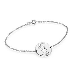 Cut Out Mum Bracelet in Silver product photo