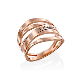Margeaux Custom Ring in Rose Gold Plating product photo