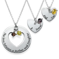 Love Between Mother & Daughters Necklace Set product photo