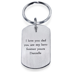 Engraved Dog Tag Key Ring product photo