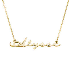 Signature Style Name Necklace Gold Vermeil product photo