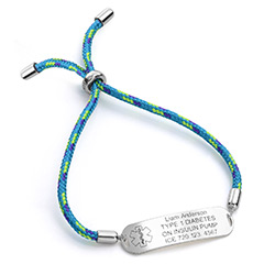 Medical ID Bracelet for Kids in Sterling Silver product photo