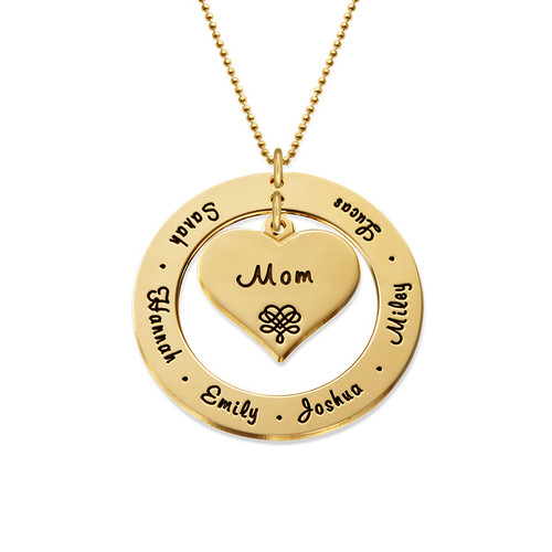10ct Gold Grandmother Necklace - 1