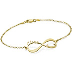 14ct Gold Infinity Bracelet with Names