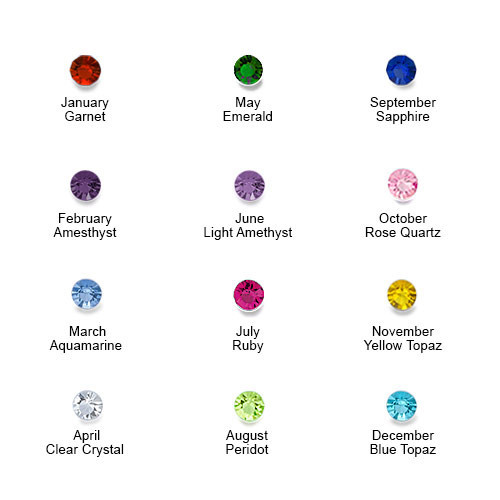 5 Stone Birthstone Ring for Mums - 2