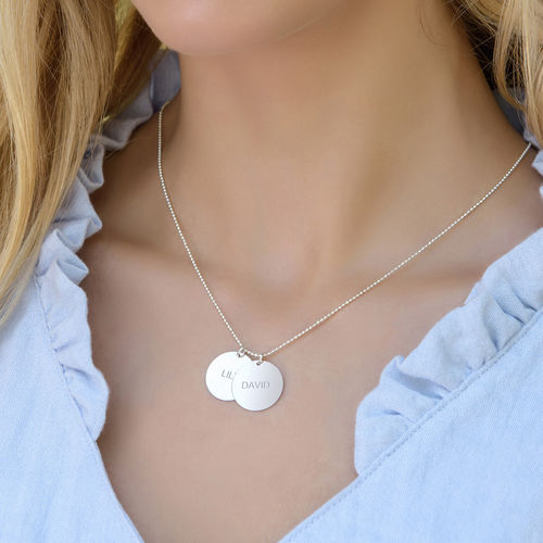 Mum Jewellery - Engraved Silver Disc Necklace - 1