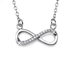 CZ Infinity Necklace