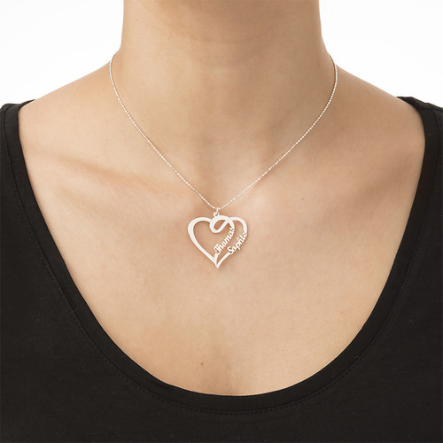 Couple Heart Necklace - My Everlasting Love Collection - 1
