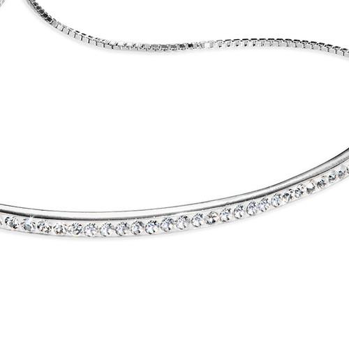 Cubic Zirconia Bar Bracelet - 1