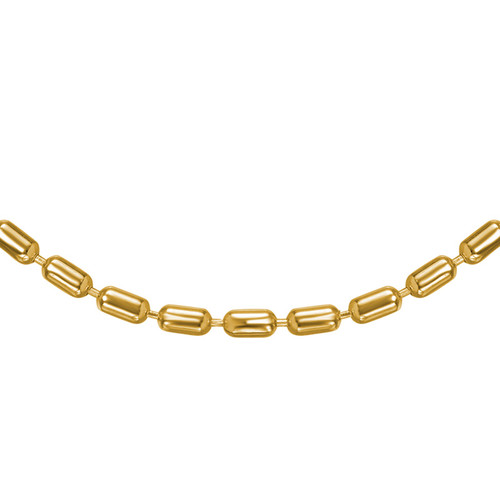 Cylinder Bead Chain - Gold Plated - 1