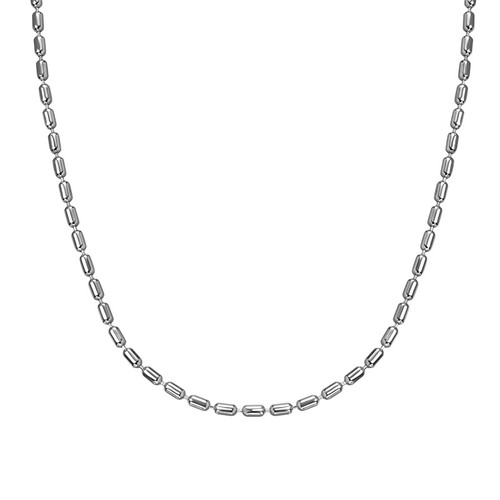 Cylinder Bead Chain - Silver