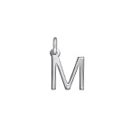 Delicate Initial Charm - Silver