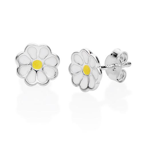 Enamel Flower Earrings for Kids