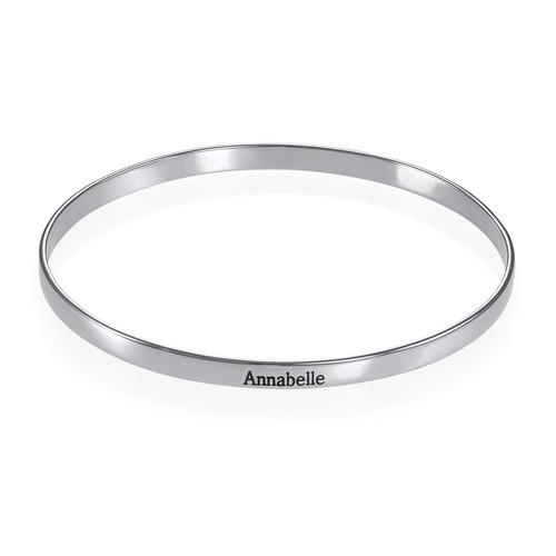 Engraved Infinite Love Bracelet in Silver