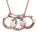 Engraved Family Circle Necklace - Rose Gold Plated