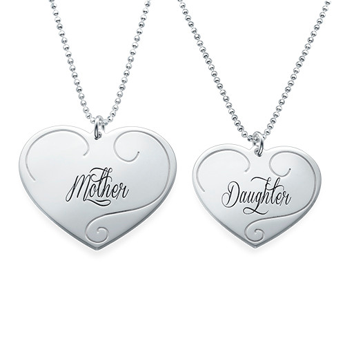 Engraved heart pendants mother daughter jewelry mynamenecklace ie engraved heart pendants mother daughter jewelry aloadofball Images