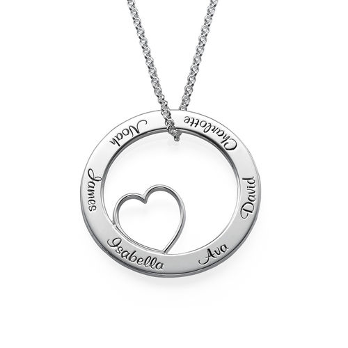 Family love circle pendant necklace mynamenecklace ie family love circle pendant necklace mozeypictures Choice Image