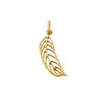 Feather Charm - Gold Plated