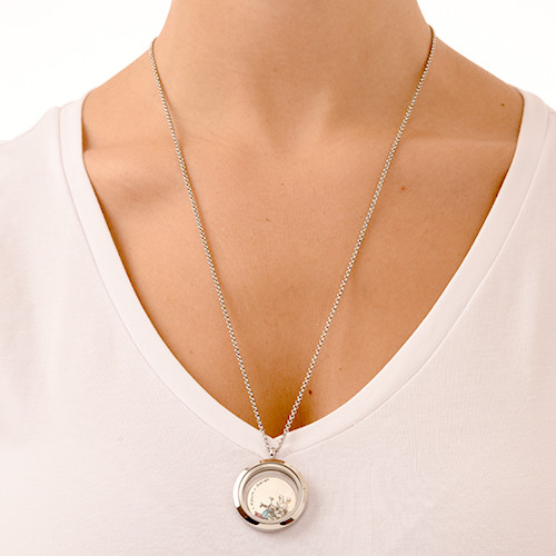 Floating Locket for Mum with Children Charms - 4