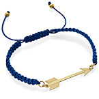 Gold Plated Arrow Cord Bracelet
