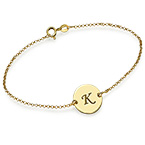 Gold Plated Initial Bracelet
