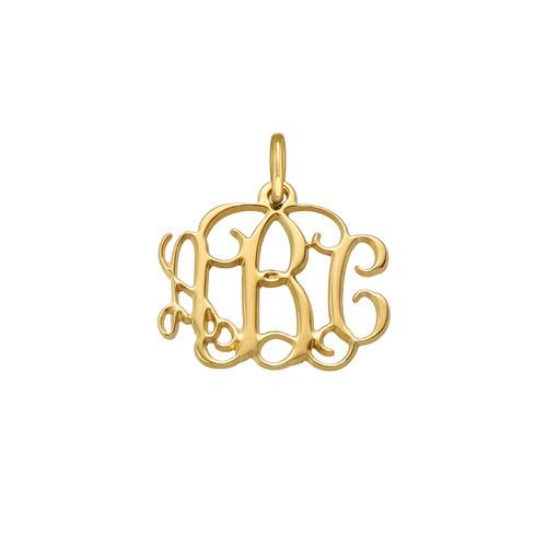 Gold Plated Monogram Charm