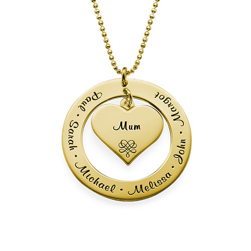 Grandmother Necklace with Names - Gold Plated - 1