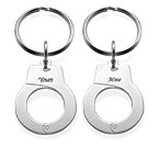 Handcuff Keyring Set for Two