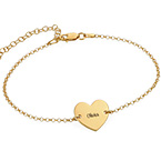Heart Anklet in Gold Plating