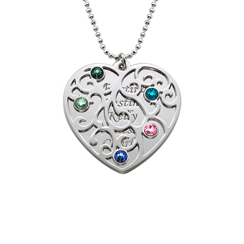 Heart Shaped Filigree Nan Necklace - 1