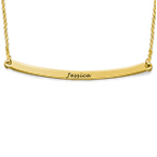 Horizontal Bar Necklace - 18ct Gold Plated