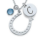 Horseshoe Jewellery with Initial Charm