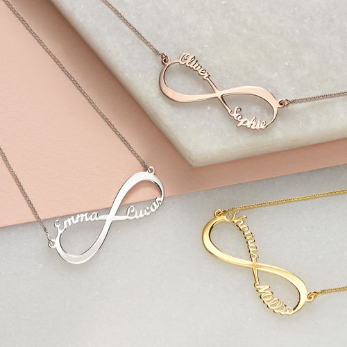Infinity Name Necklace in Gold Plating - 2