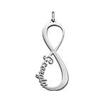 Infinity Name Pendant - Silver