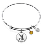 Initial Bangle with Charms