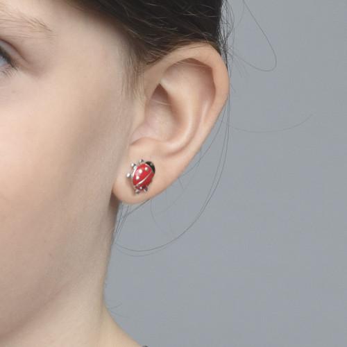 Ladybug Earrings for Kids - 1