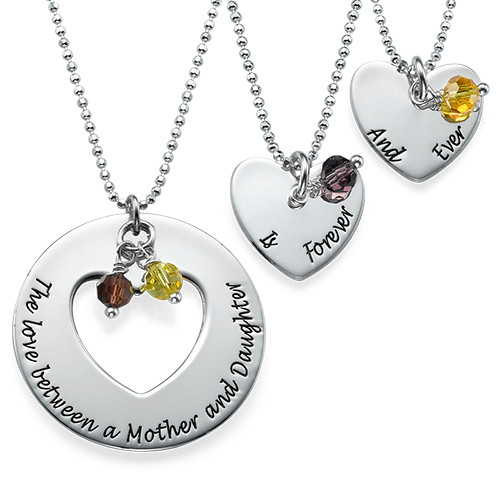 Love between mother daughters necklace set mynamenecklace ie love between mother daughters necklace set aloadofball Images