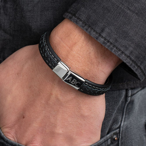 Men's Bracelet with Initials - 3