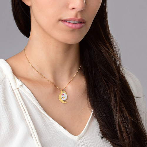 Moon Charm - Gold Plated - 1