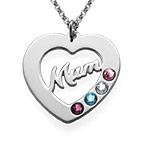 Mum Necklace with Birthstones