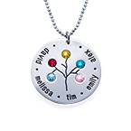 NEW Sterling Silver Family Tree Necklace