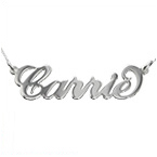 18ct Gold-Plated Sterling Silver Carrie Style Name Necklace