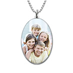Oval Photo Necklace