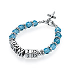Personalised Baby Name Bracelet in Blue