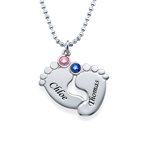 Personalised Baby Feet Necklace