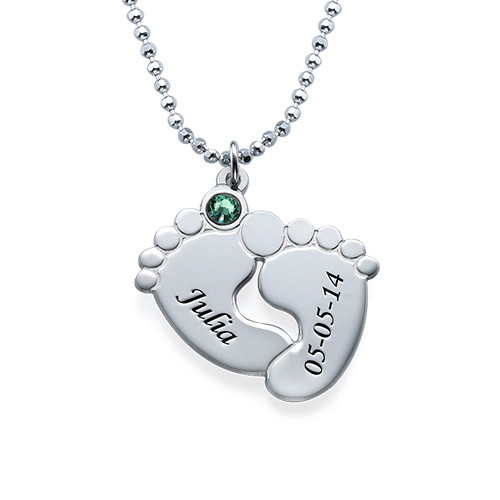 Personalised Baby Feet Necklace - 1